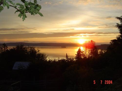 Sunrise over the strait
