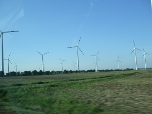 One of many sets of turbines